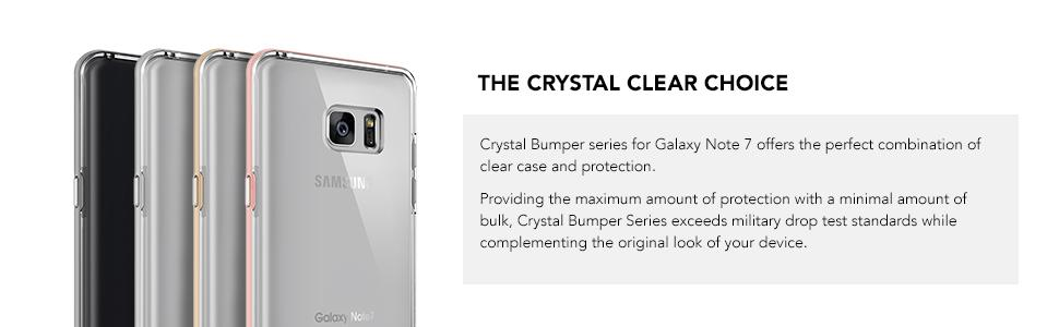 Galaxy Note 7 Cases, VRS Design Crystal Bumper Series