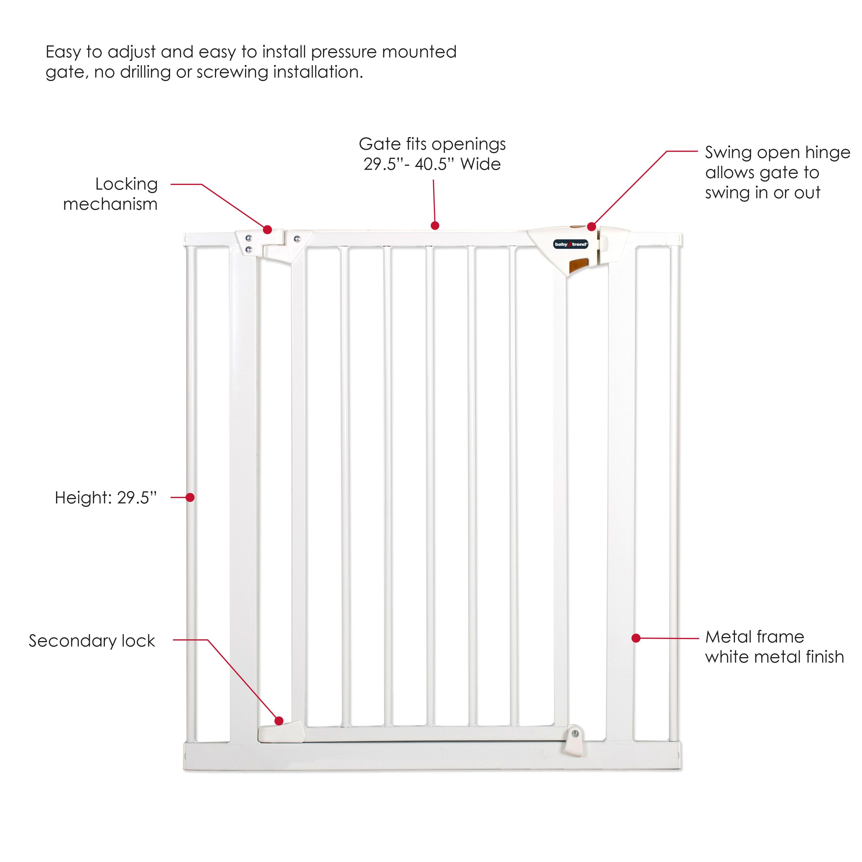 Amazon.com : Baby Trend Pressure Fit Metal Safety Gate : Baby