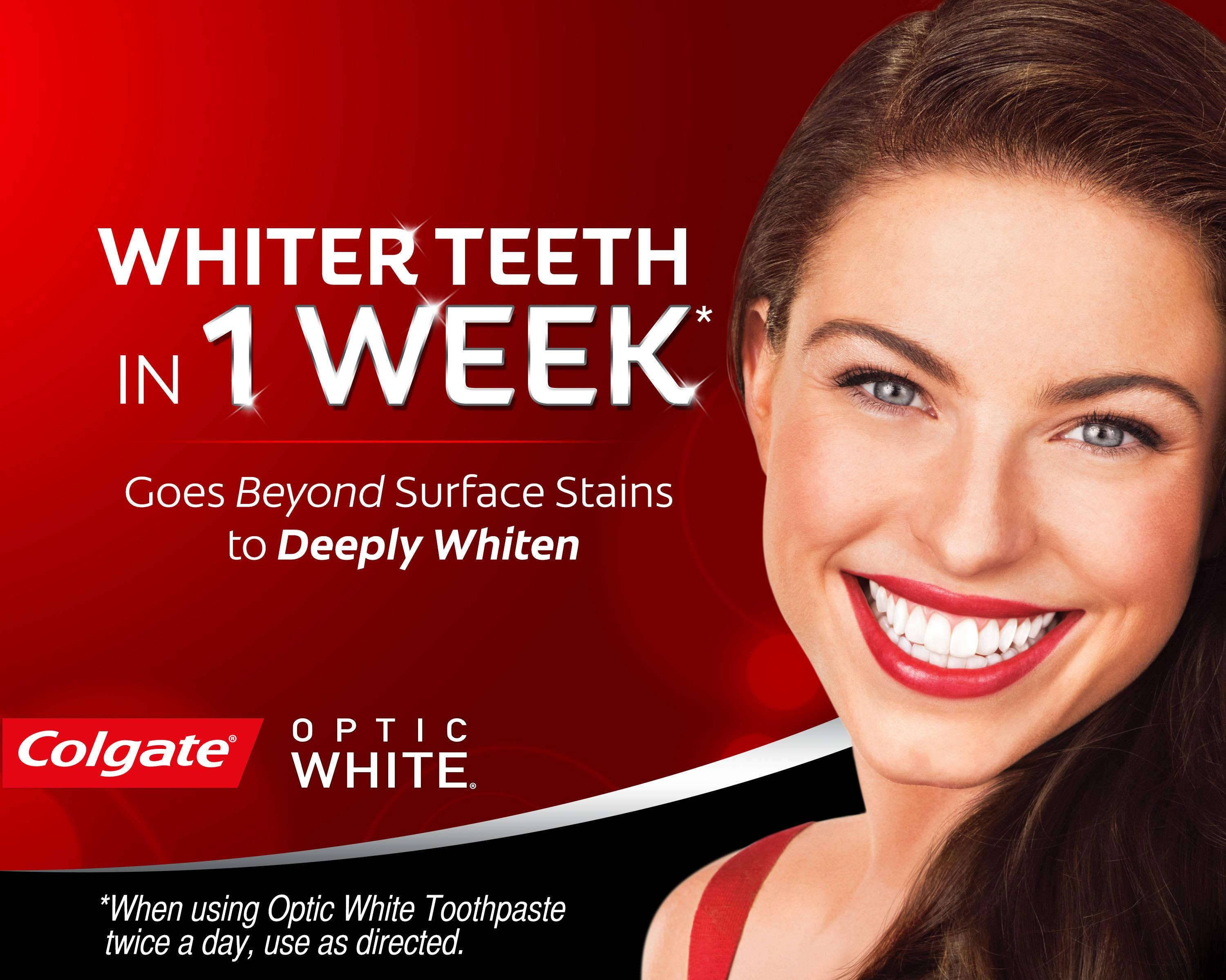 Colgate Optic White Toothpaste, Sparkling Mint, 6.3 Ounce