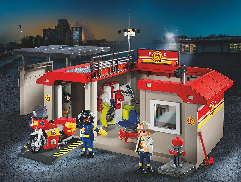 playmobil take along fire station toys games. Black Bedroom Furniture Sets. Home Design Ideas