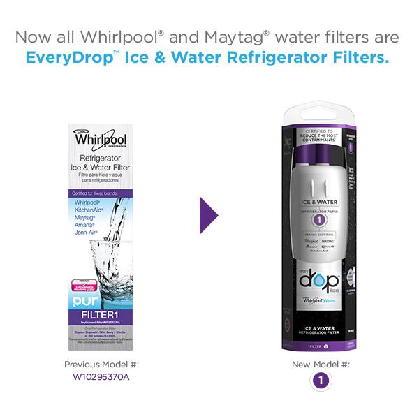 3x whirlpool everydrop 1 edr1rxd1 w10295370a pur ice water fridge water filter ebay - Whirlpool refrigerator ice and water filter pur ...
