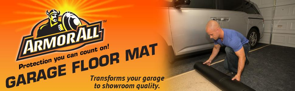 Amazon Com Armor All Aagfmc20 Charcoal 20 X 7 4 Quot Garage Floor Mat Automotive