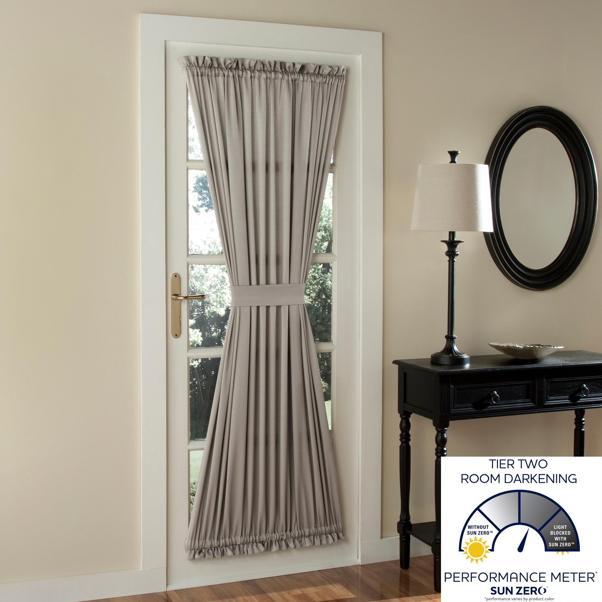 Sun Zero Barrow Room Darkening Patio Door Curtain Panel