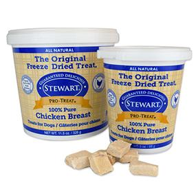 single ingredient dog treats, chicken breast dog treats, stewart pro-treat
