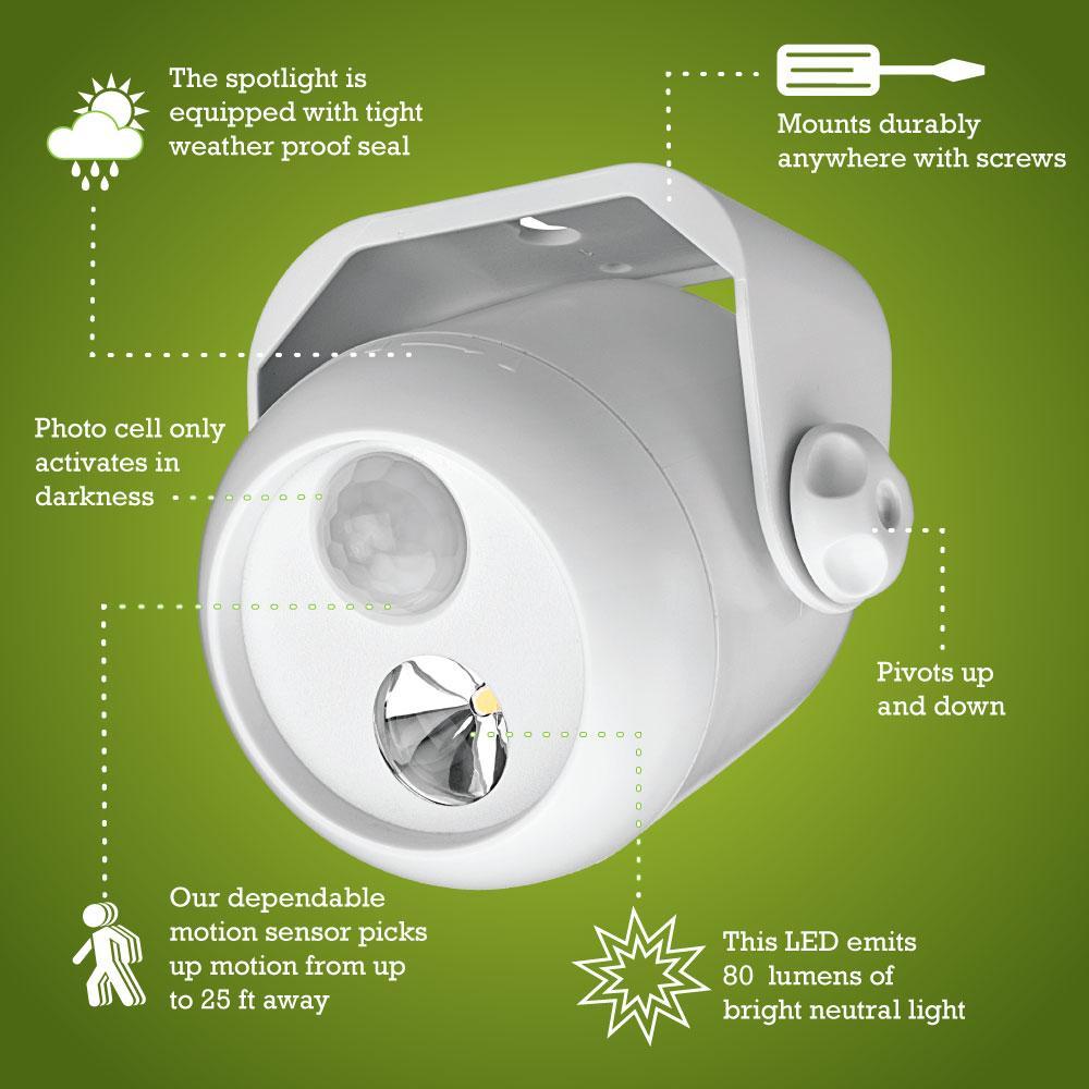 Mr Beams Mb302 Wireless Led Mini Spotlight With Motion