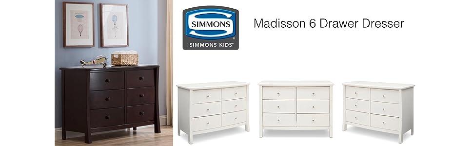 simmons monterey dresser rustic white. madisson, madison, dresser, six, drawer, double, nursery, simmons monterey dresser rustic white