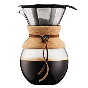 Insulated Pour Over Coffee Maker : Amazon.com: Bodum 11571-294 Pour Over Coffee Maker with Permanent Filter, 34 oz, Red: Kitchen ...