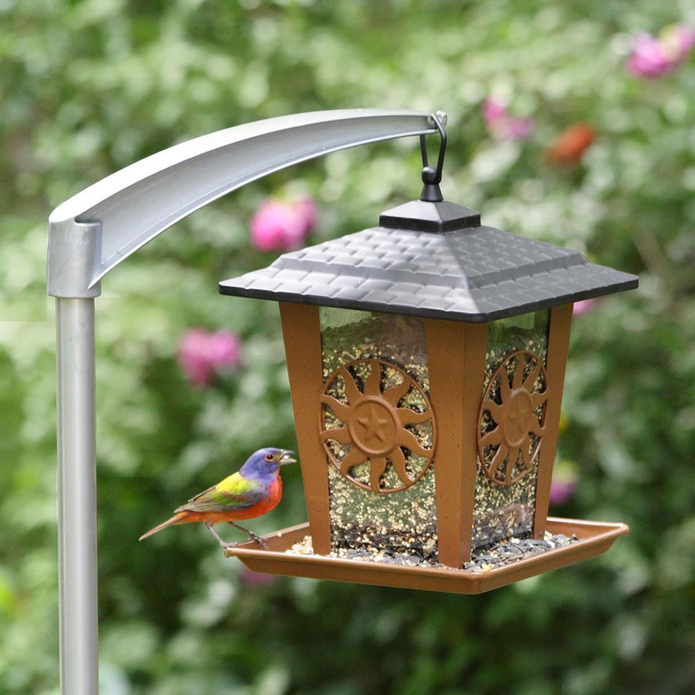 Perky pet 5107 4 universal bird feeder pole for Bird feeder pole plans