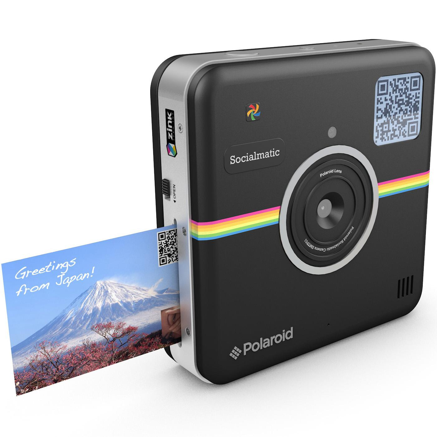 Amazon.com : Polaroid Socialmatic Instant Digital Camera (Black ...