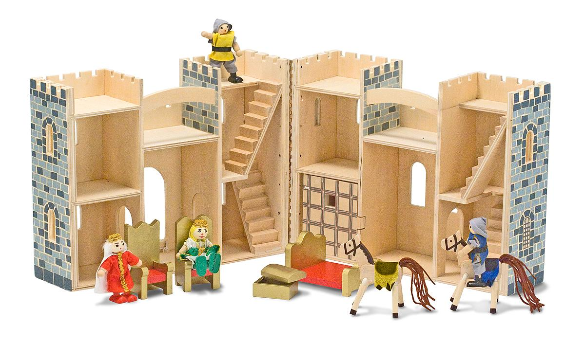 how to build a wooden toy castle