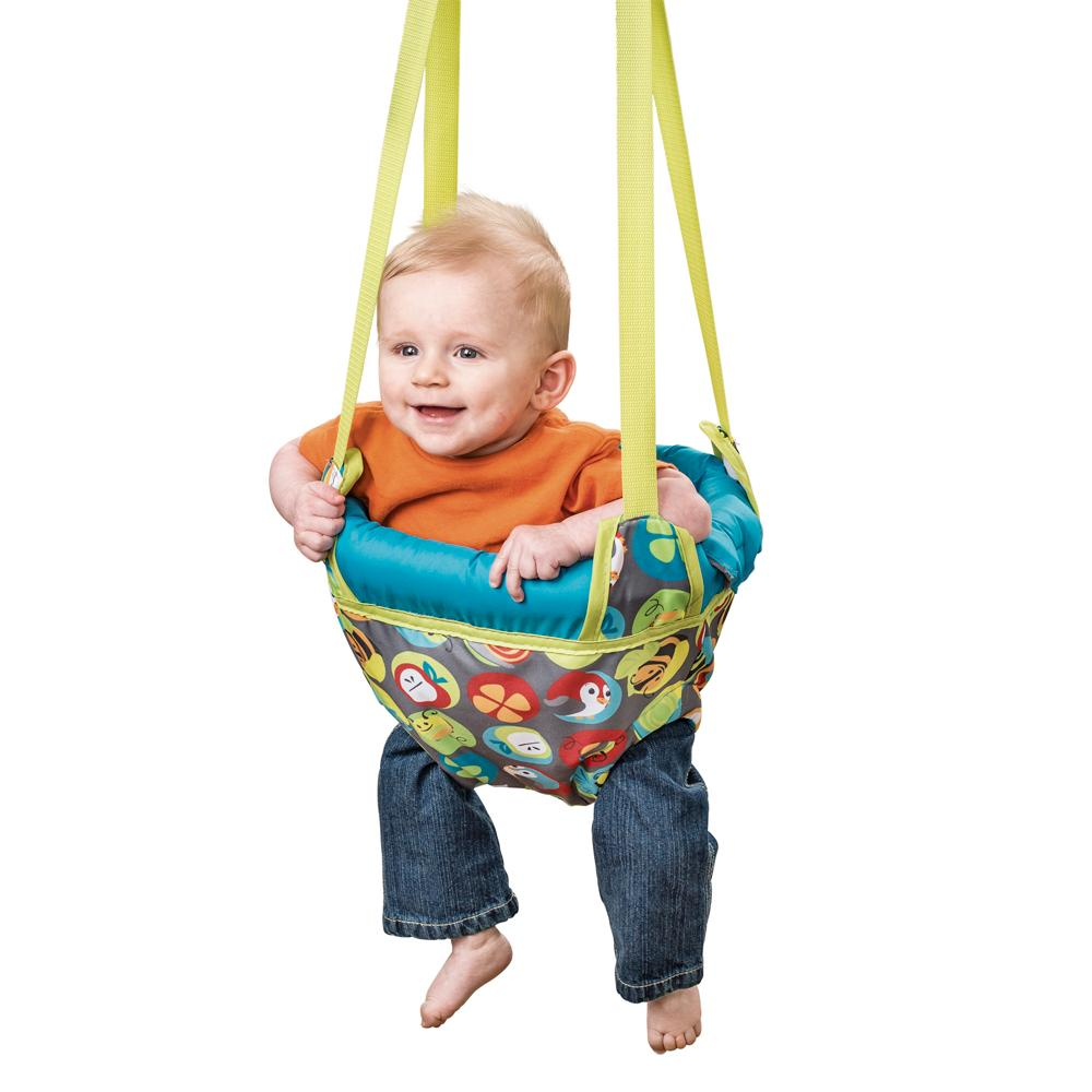Evenflo exersaucer door jumper bumbly baby for Door bouncer age