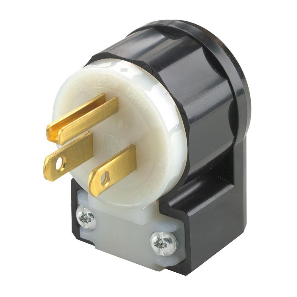 Leviton 5266-CA 15 Amp, 125 Volt, Angle Plug, Straight Blade ...