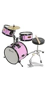 junior drum set gammon pink