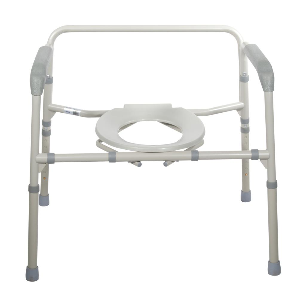 Amazon.com: Drive Medical Heavy Duty Bariatric Folding Commode ...