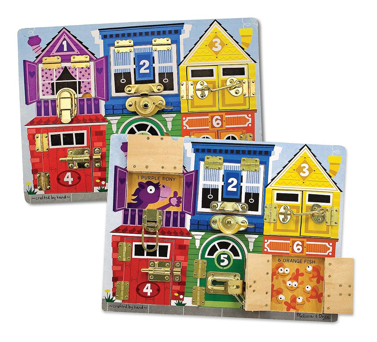 Melissa And Doug Toys : Amazon melissa doug latches wooden activity board