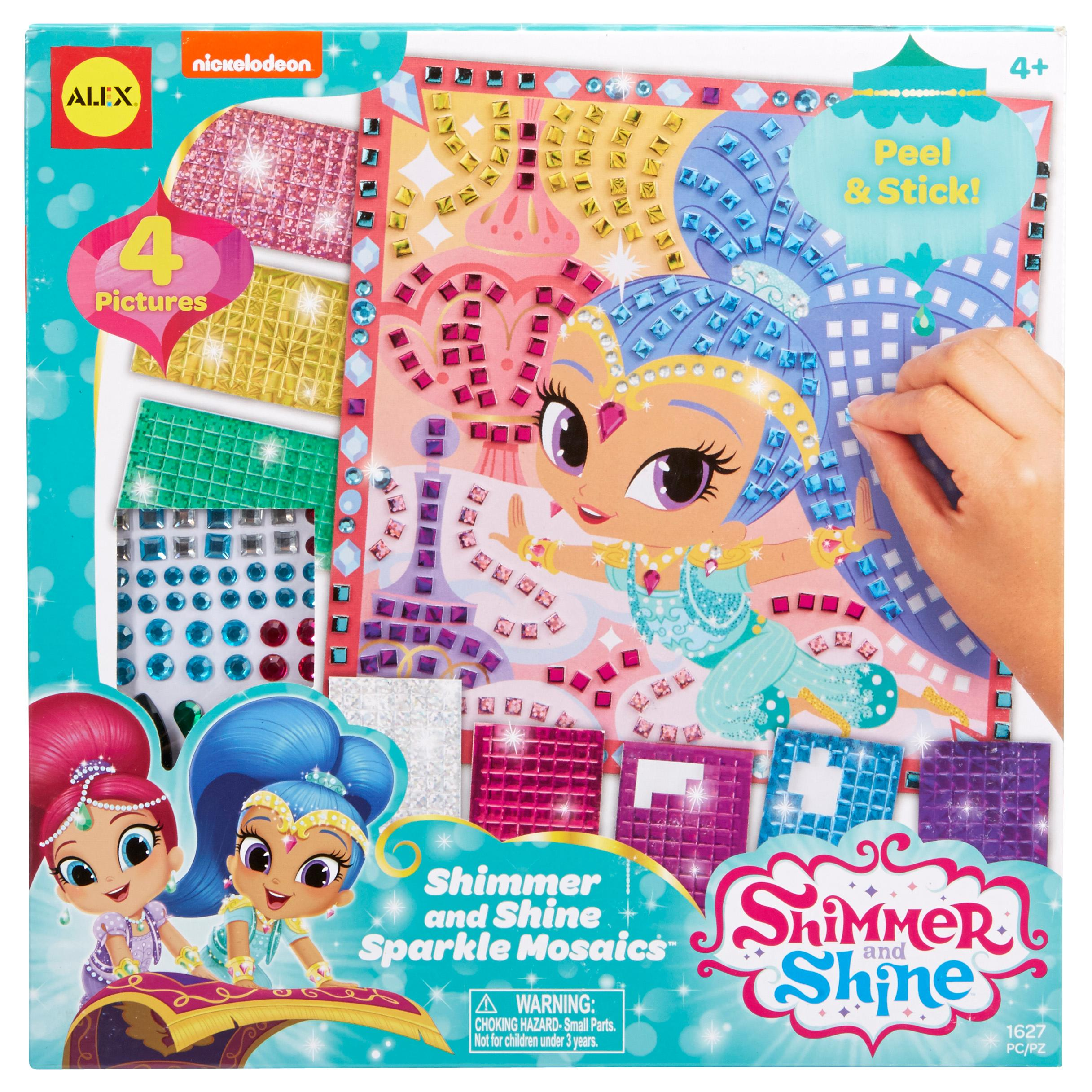 Shimmer and shine sparkle mosaics toys games for Alex toys craft color a house children s kit