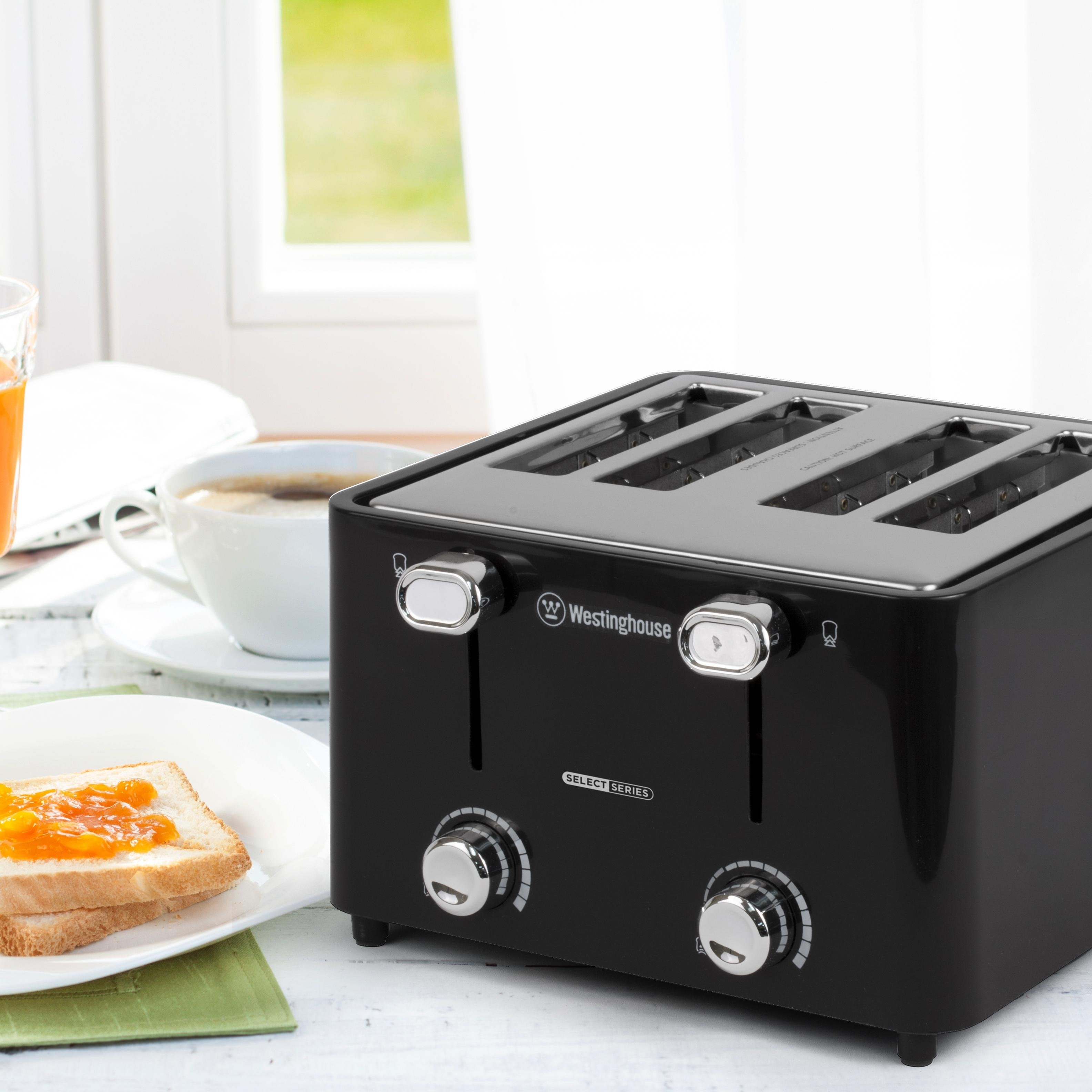 Westinghouse wt44ba select series 4 slice cool - Cool touch exterior convection toaster oven ...