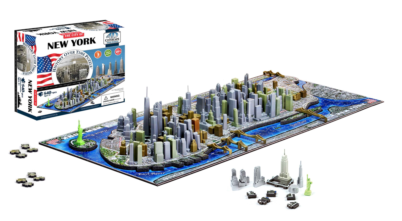 Amazon.com: 4D New York City Skyline Time Puzzle ...