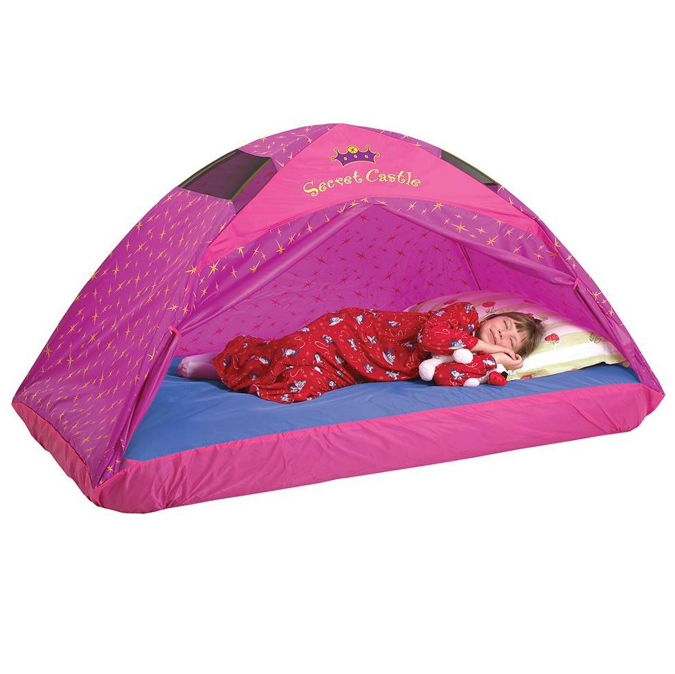 Amazon.com: Pacific Play Tents Kids Secret Castle Bed Tent