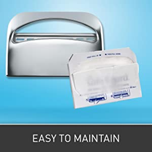 Safe T Gard 1 2 Fold Toilet Seat Cover Dispenser By Gp Pro