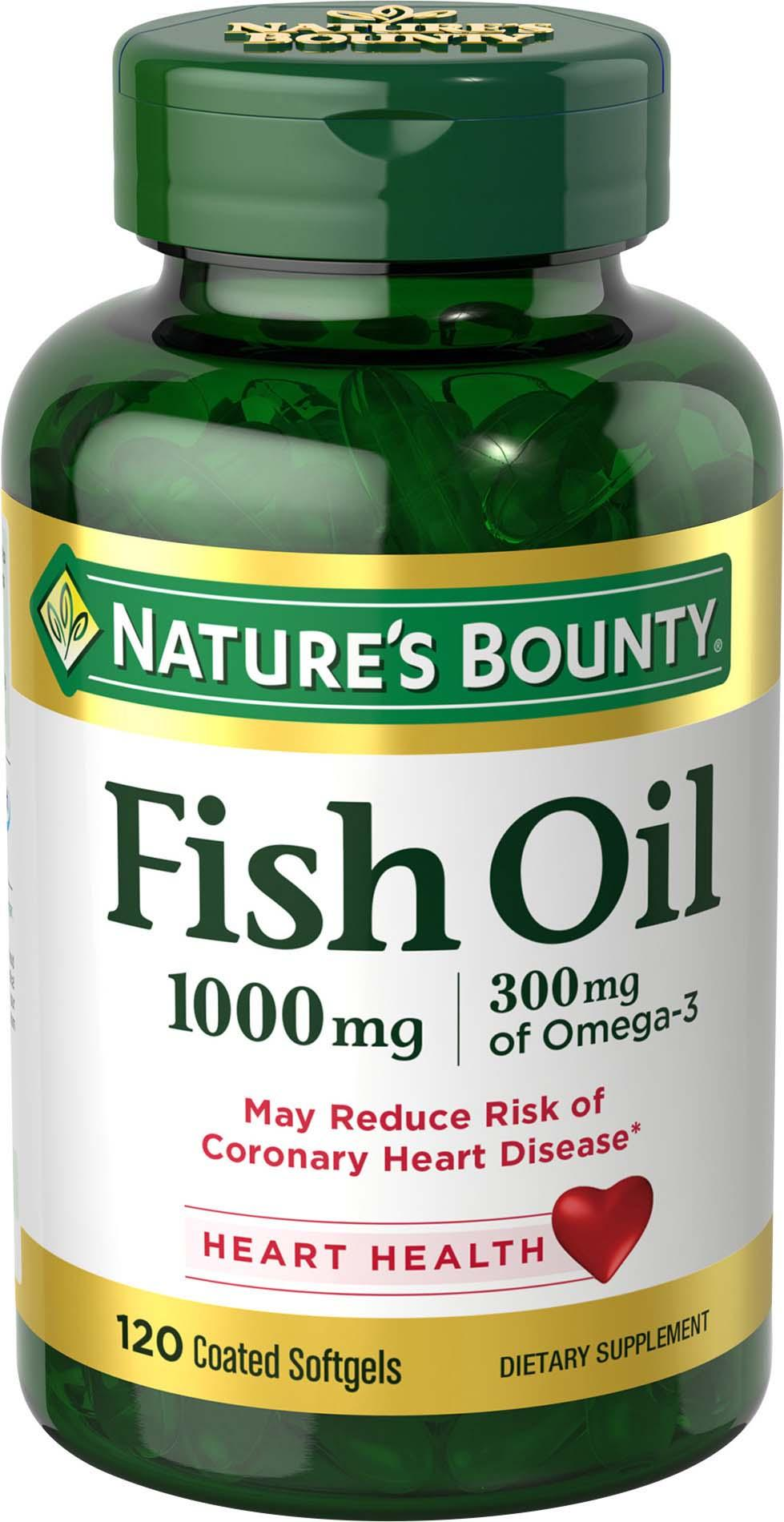 Nature 39 s bounty fish oil 1000 mg omega 3 for Fish oil 1000 mg