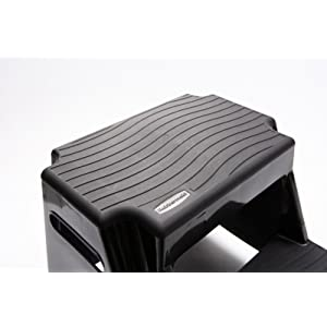 Rubbermaid Rm P2 2 Step Molded Plastic Stool With Non Slip