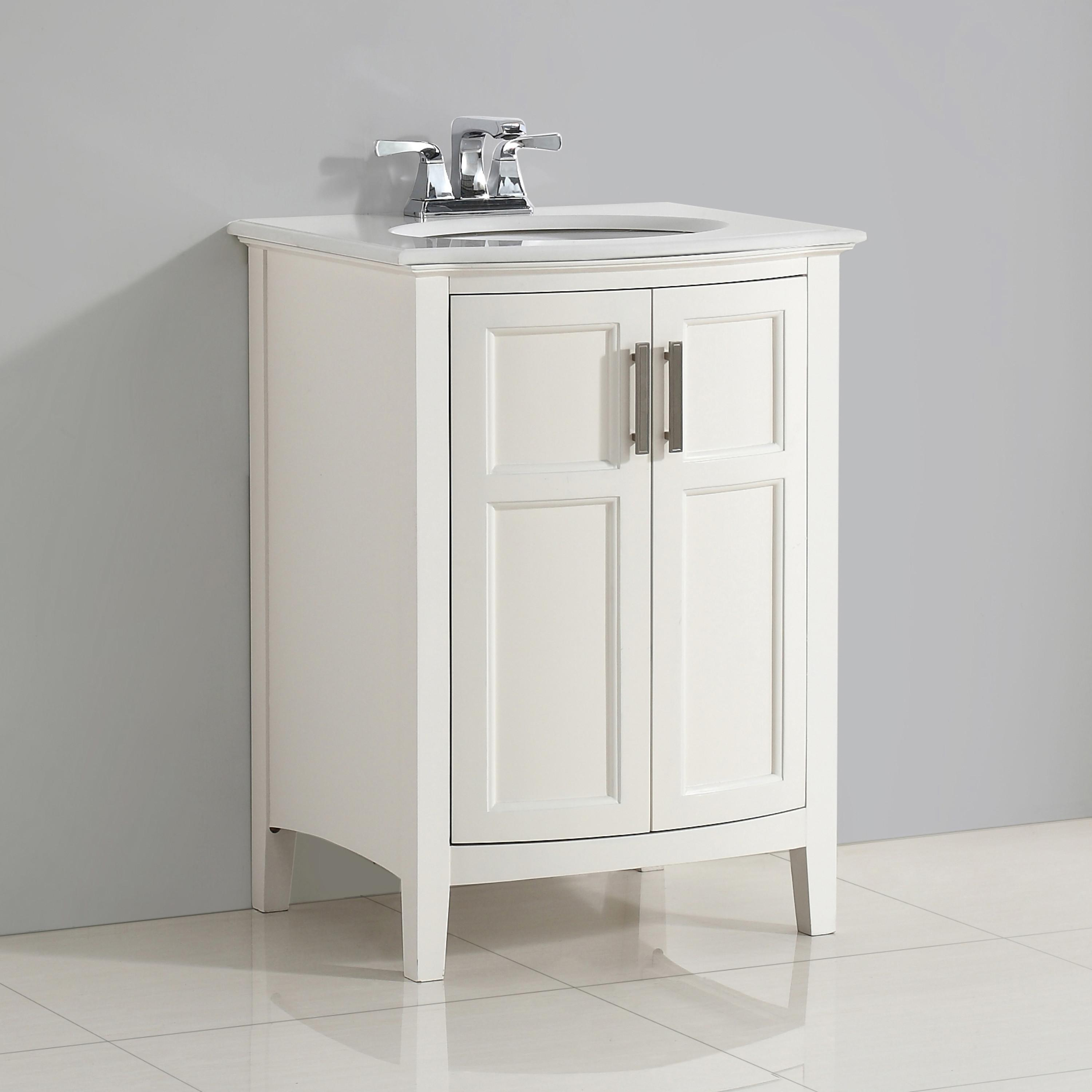 "Simpli Home Winston 24"" Bath Vanity Rounded Front with ..."