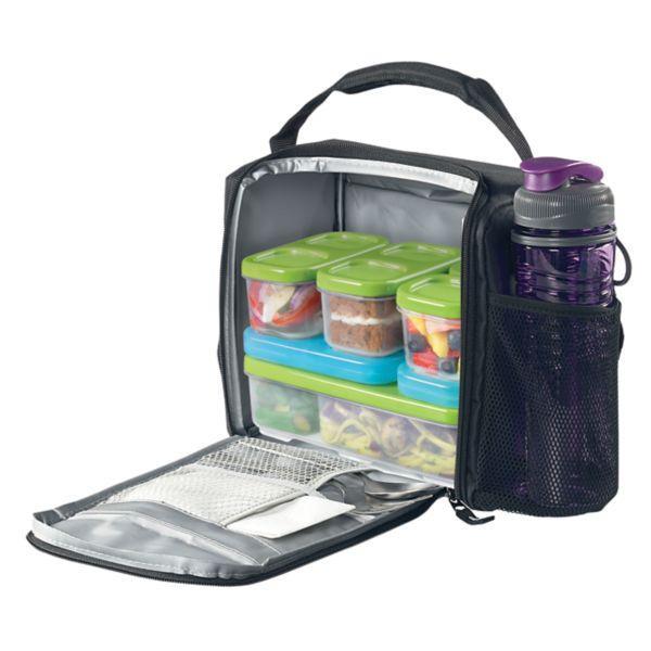 Amazon Com Rubbermaid Lunchblox Lunch Bag Medium Black