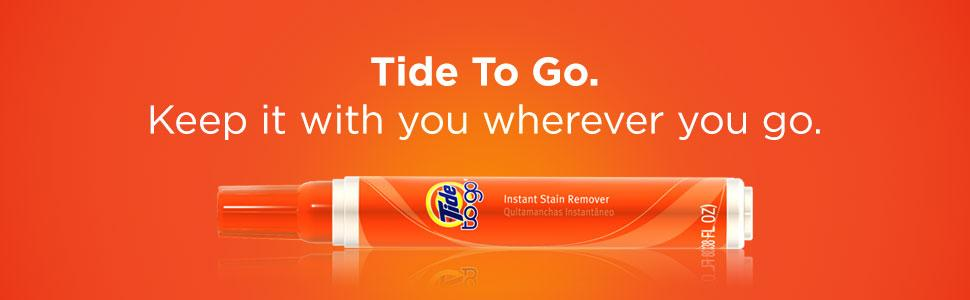 Tide To Go. Keep it with you wherever you go.