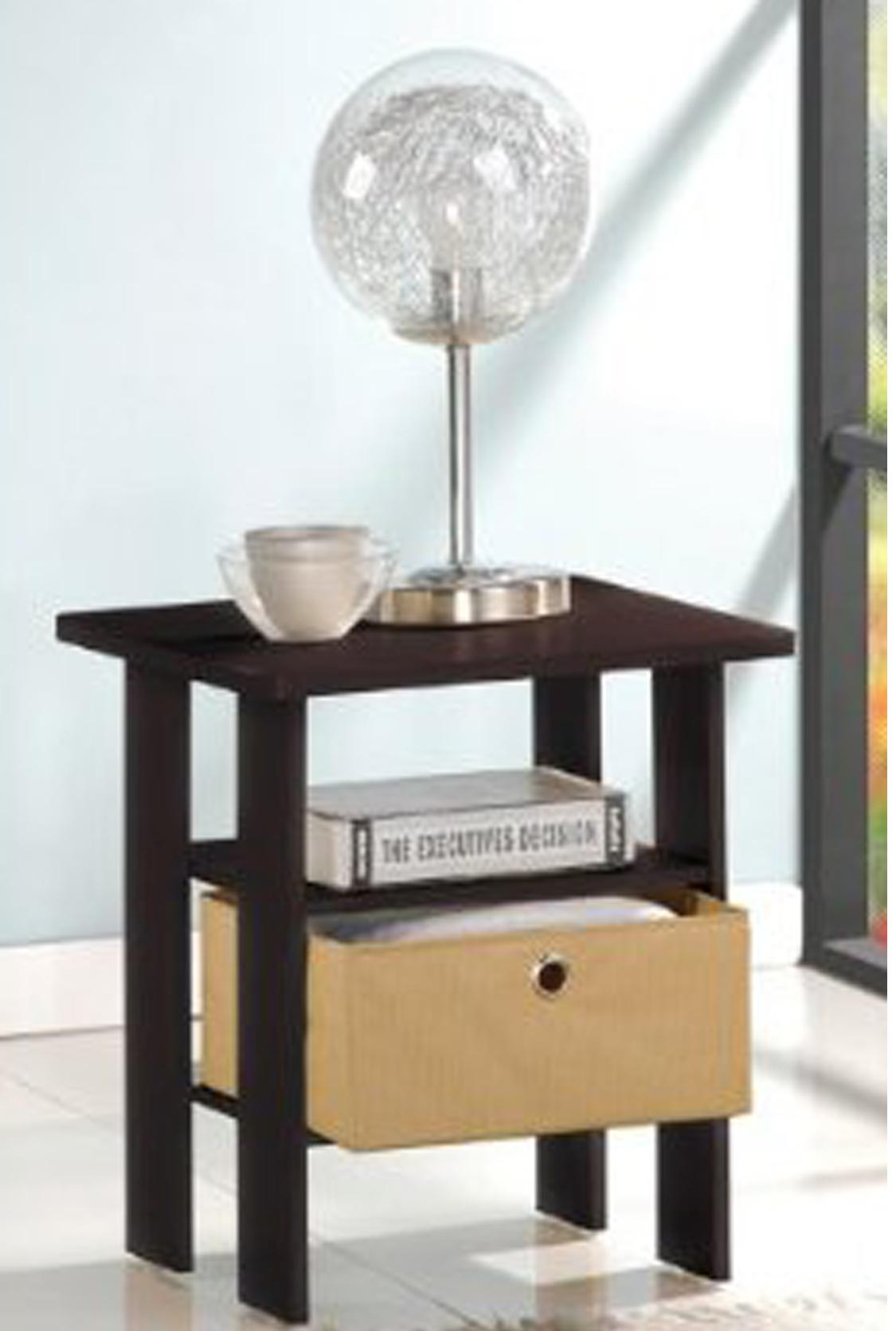 Furinno BKBK Coffee Table With Bin Drawer Black Amp White - Furinno coffee table