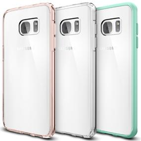 check out b886f ad60d Spigen Ultra Hybrid Designed for Samsung Galaxy S7 Edge Case (2016) - Rose  Crystal