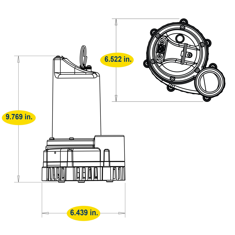Blue Angel Pumps Df12vsm 12 Vdc Sump Minder Advanced Notification Wayne Pump Wiring Diagram View Larger