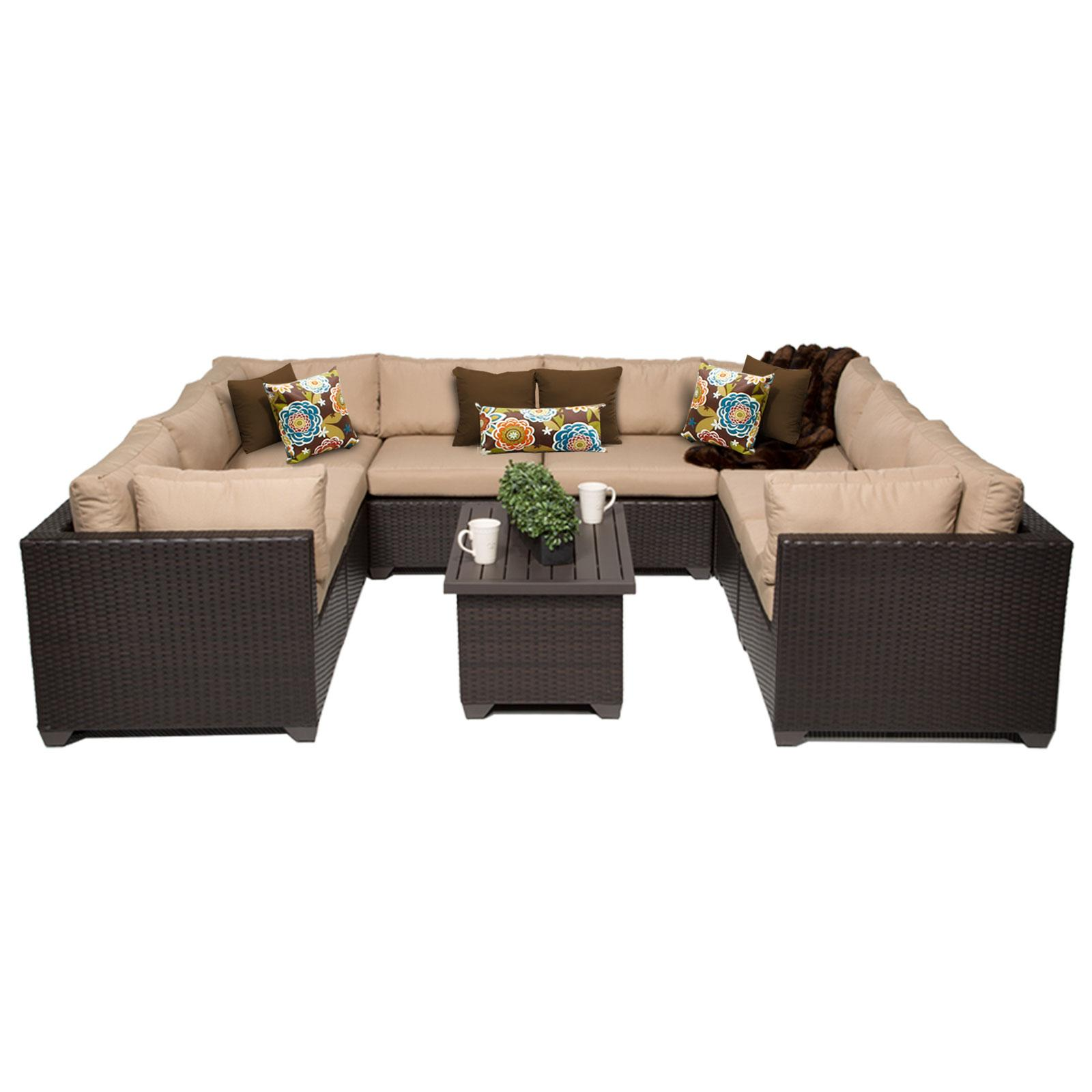 Amazon TK Classics 9 Piece Belle Outdoor Wicker Patio