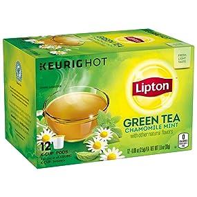Amazon Lipton Green Tea K Cups Chamomile Mint 10