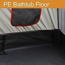 Tent PE Bathtub Floor