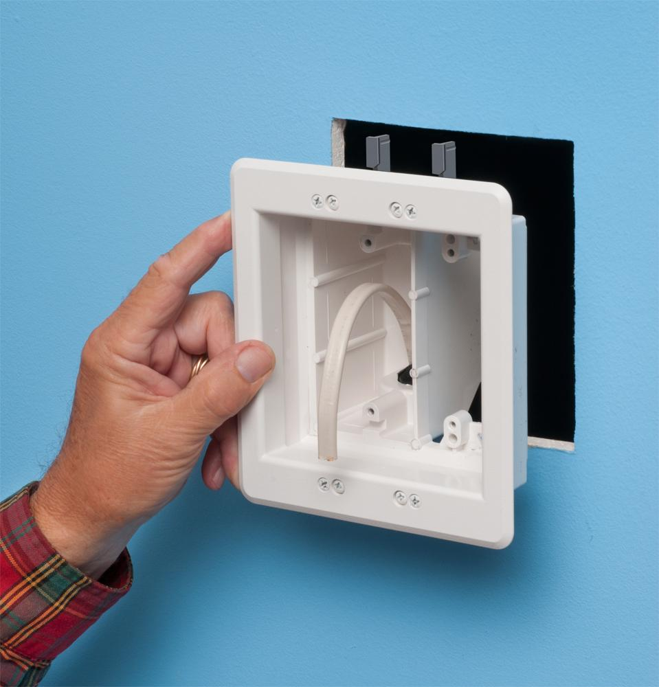 Arlington Tvbu505k 1 Tv Box Recessed Outlet Wall Plate How To Wire An Electrical Wiring Besides Duplex View Larger