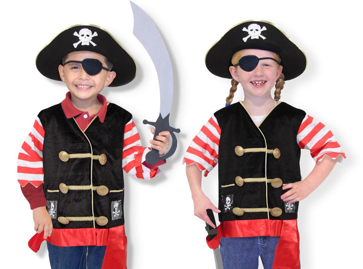 Dress up? Ay, matey! This swashbuckling set includes an embroidered