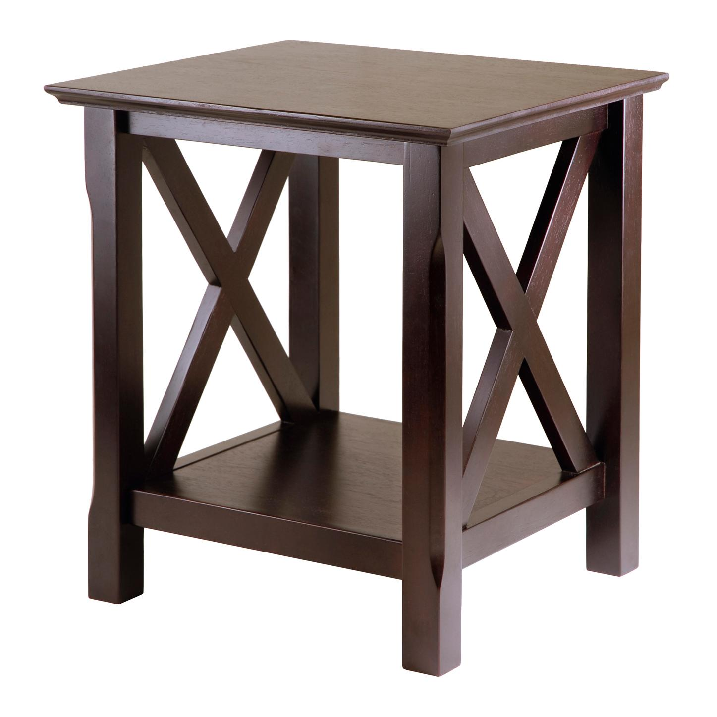 View larger. Amazon com  Winsome Wood Xola End Table  Kitchen   Dining