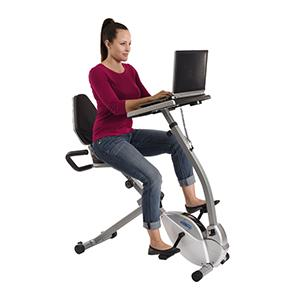 Amazoncom Stamina 2in1 Recumbent Exercise Bike Workstation