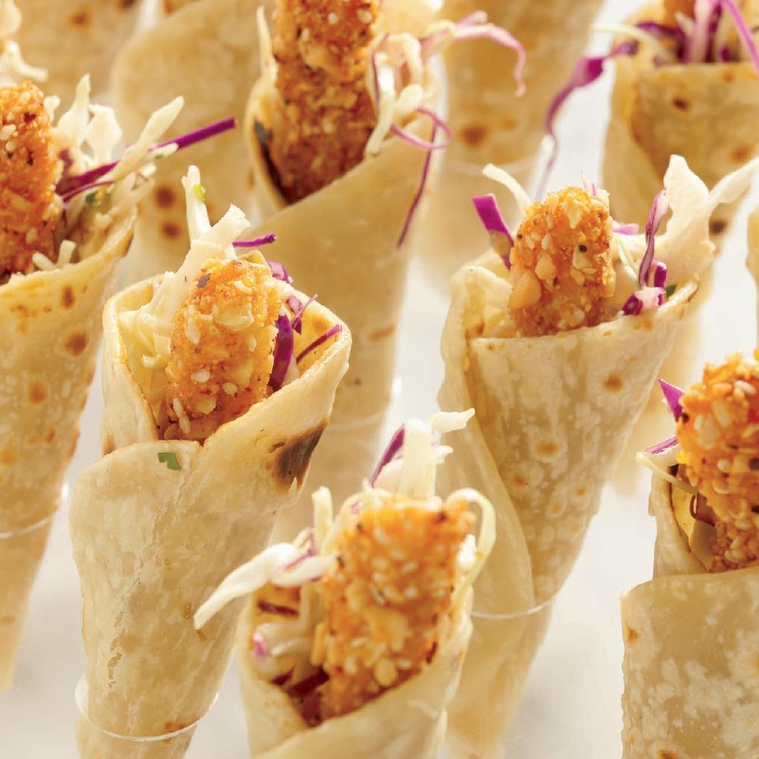Garde manger the art and craft of the cold kitchen 4th edition hot and crunchy chicken cones fandeluxe Image collections