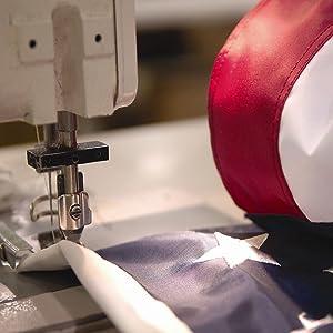 manufacturing US flag