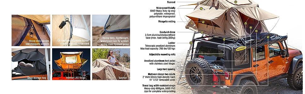 Smittybilt Overlander Tent Features