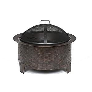 cobraco woven base cast iron fire pit