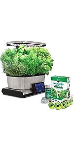 Amazon.com : AeroGarden Harvest Touch with Gourmet Herb ...
