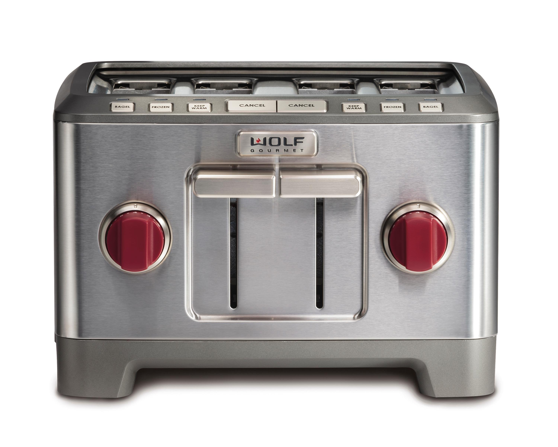 Wolf Gourmet Countertop Oven Amazon : Amazon.com: Wolf Gourmet 4 Slice Toaster (WGTR104S) (Red): Kitchen