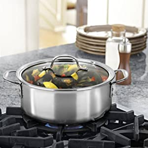 Calphalon Tri-Ply Stainless Steel 5-Quart Covered Dutch Oven
