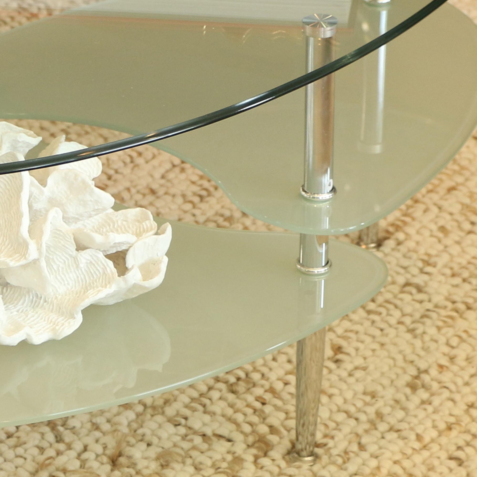 Amazon.com: Walker Edison Glass Oval Coffee Table: Kitchen
