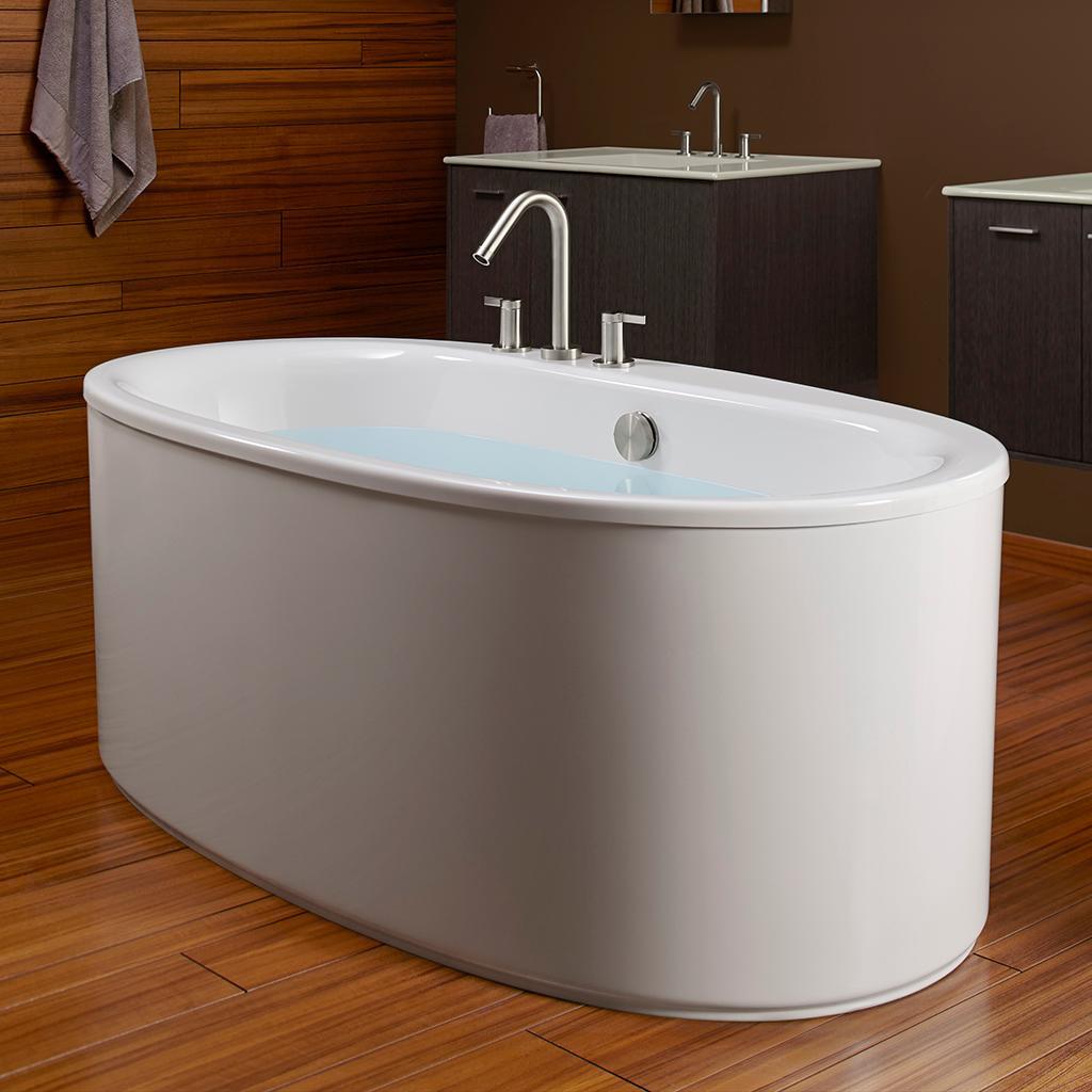 Kohler k 6368 0 sunstruck 66 inch x 36 inch oval for Wide tub