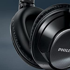 Philips SHB9850NC/27 Wireless noise canceling headphones - Soft ergonomic cushions