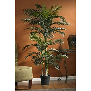 Amazon Com Nearly Natural 5289 Golden Cane Palm Silk Tree